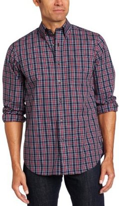 Nautica Men's Long Sleeve Wrinkle Resistant Multi Plaid Shirt
