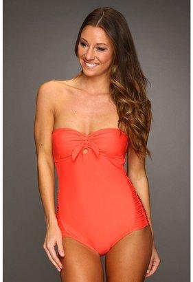 O'Neill Solid One-Piece Swimsuit (Grapefruit) - Apparel