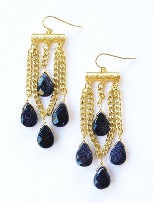 K. Amato Chain and Teardrop Earrings