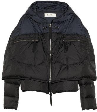 Marni Hooded cape-style coat