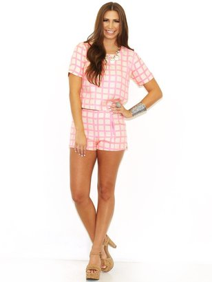 Joa Woven Shorts in Pink