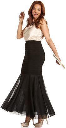 Roland Mouret R&M Richards Plus Size Skirt, Pleated Mermaid-Hem