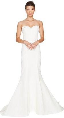 Nicole Miller - Dakota Silk Faille Strapless Gown Women's Dress $1,200 thestylecure.com