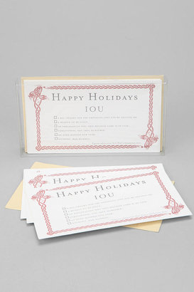 Urban Outfitters Holiday IOU Card - Pack Of 6