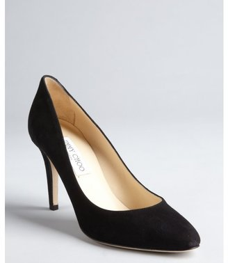 Jimmy Choo black suede 'Victory' tapered toe pumps