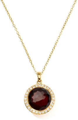 Ippolita Rock Candy 18k Gold Mini Lollipop Necklace in Garnet & Diamond