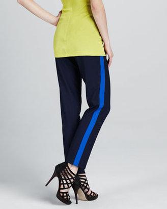 Vince Contrast-Stripe Pants, Midnight