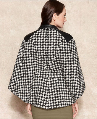 Calvin Klein Houndstooth-Check Cape
