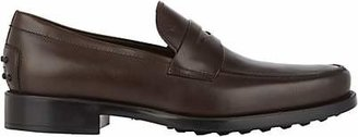 Tod's Men's Boston Leather Penny Loafers - Brown