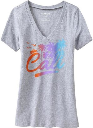 Old Navy Women's Graphic V-Neck Tees