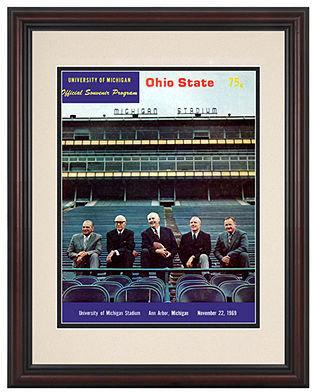 Mounted Memories Wall Art, Framed Michigan vs Ohio State Football Program Cover 1969