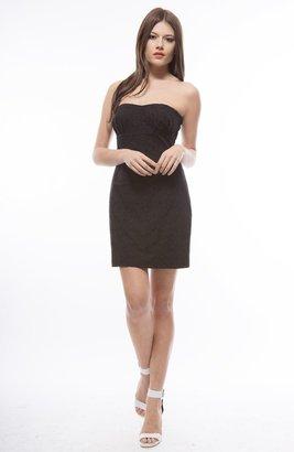 BB Dakota Strapless Eyelet Dress