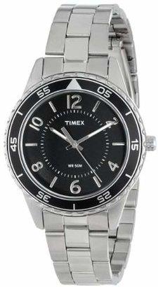 Timex Women's T2P019KW Ameritus Sport Black Dial, Stainless Steel Bracelet Watch $68 thestylecure.com
