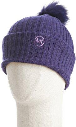 MICHAEL Michael Kors iris wool-cashmere fur pom-pom hat