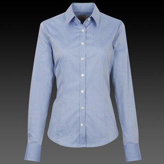 Thomas Pink Blue Tailored Charoba Women's Shirt - Button Cuff