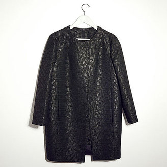 Topshop Textured Jacquard Coat