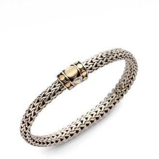 John Hardy Dot 18K Yellow Gold & Sterling Silver Small Chain Bracelet