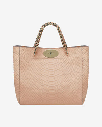 Mulberry Cecily Tote Silky Snake Print: Nude