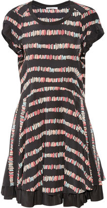 See by Chloe Printed silk crepe de chine dress