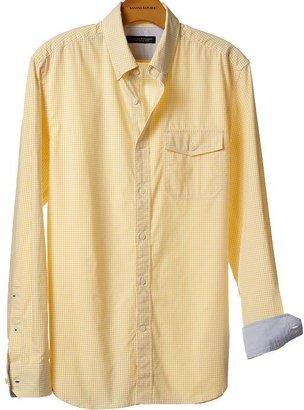 Banana Republic Soft-Wash slim fit micro-gingham shirt