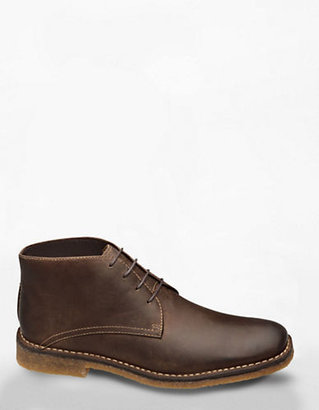 Johnston & Murphy Runnel Brown Suede Chukka Boots