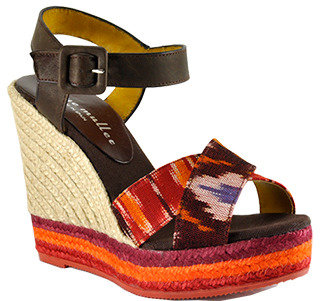 Bettye Muller Jo Jo - Red Canvas Pattern Espadrille