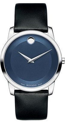 Men's Movado 'Museum' Leather Strap Watch, 40Mm $495 thestylecure.com