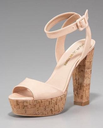 Pour La Victoire Cork Platform Sandal