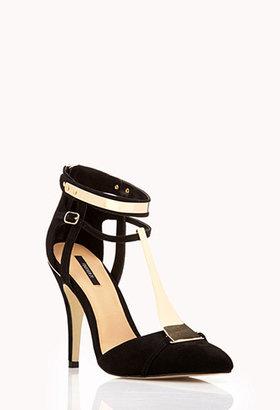 Forever 21 Futuristic-Strap Stilettos