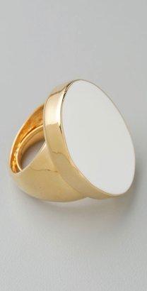 Kenneth Jay Lane White Enamel Ring