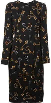 Dolce & Gabbana key print dress