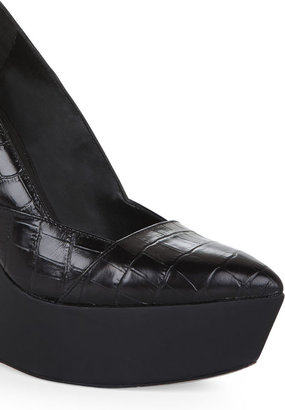 BCBGMAXAZRIA Arcade Cuffed-Ankle Wedge Platform