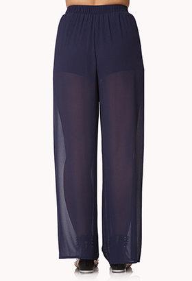 Forever 21 Wide-Leg Georgette Pants
