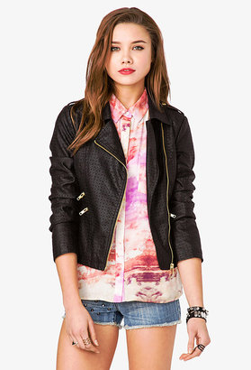 Forever 21 Perforated Moto Jacket
