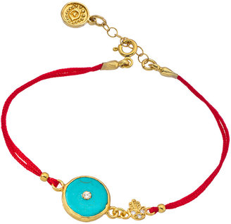 Blee Inara Gold Turquoise and Swarovski Crystal Double String Bracelet