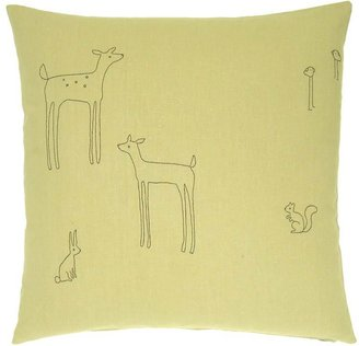 K Studio Woodland Creatures Embroidered Pillow