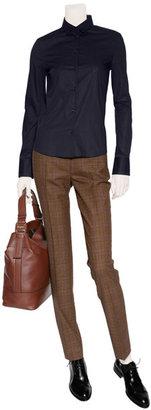Michael Kors Caramel and Blackberry Checked Pants