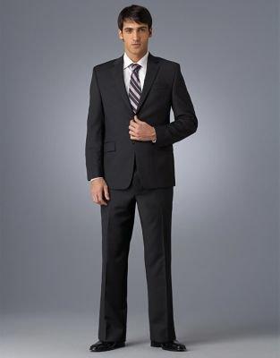 Calvin Klein Black Striped 2-Button Suit Jacket