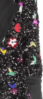 Suno Beaded Flower Jacket
