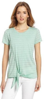 Vince Camuto Two by Women's Wrap Front Tee With Tie