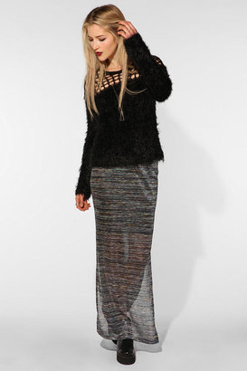 UO Emily Shaw for RISD + Textured Knit Maxi Skirt