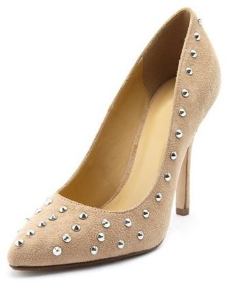 Charlotte Russe Sueded Pointy Toe Stud Pump