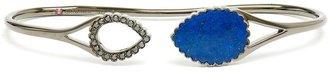 Lapis Gaydamak oxidised gold, diamond and hand bracelet