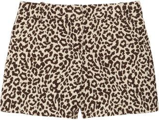 J.Crew Animal-print linen-canvas shorts