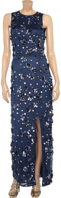 Mikael Aghal Paillette-embellished tulle maxi dress