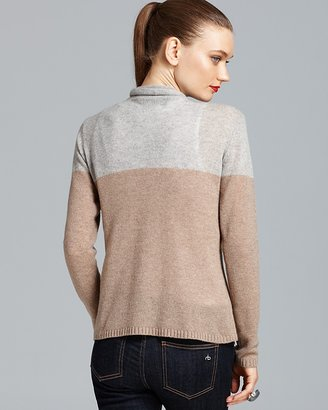 Magaschoni Cashmere Color Block Duster