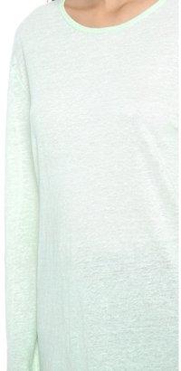 Alexander Wang Linen Silk Long Sleeve Tee