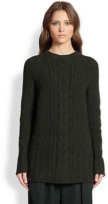 The Row Tesia Cable-Knit Merino Wool & Cashmere Sweater