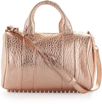 Alexander Wang Rocco Stud-Bottom Satchel Bag, Rose Gold