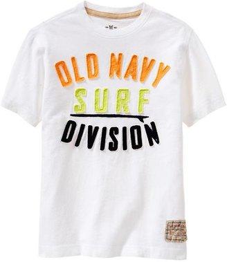 Old Navy Boys Premium Applique-Graphic Tees